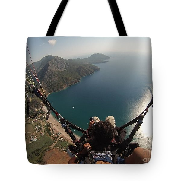 Paragliding Fly Above Laguna Seascape Tote Bag