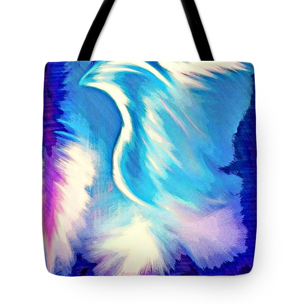 Tote Bag featuring the digital art Parakletos by Jessica Eli