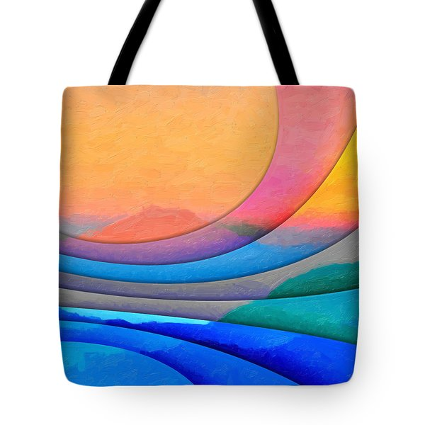 Parallel Dimensions - The Sacred Mountain Tote Bag by Serge Averbukh