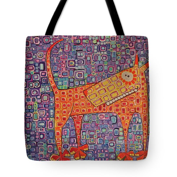 Tote Bag featuring the painting Paranoid by Donna Howard