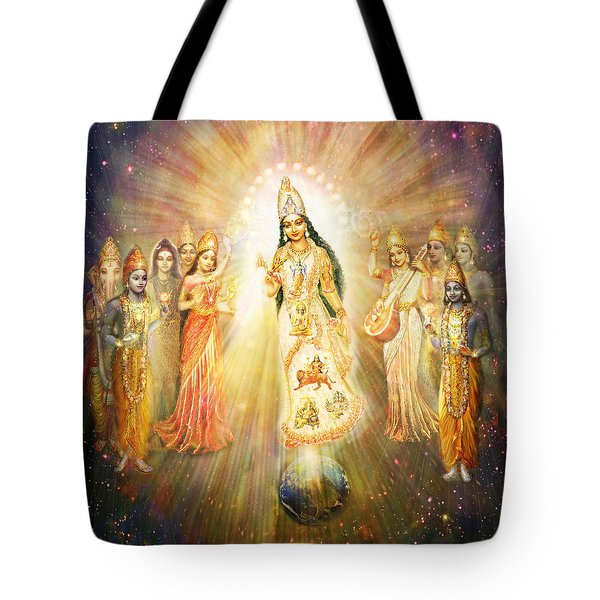 Parashakti Devi - The Great Goddess In Space Tote Bag by Ananda Vdovic