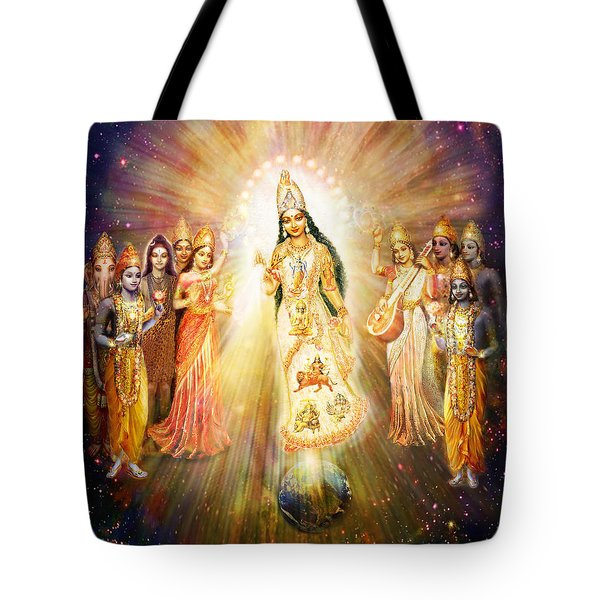 Parashakti Devi/ The Great Mother Goddess In Space Tote Bag
