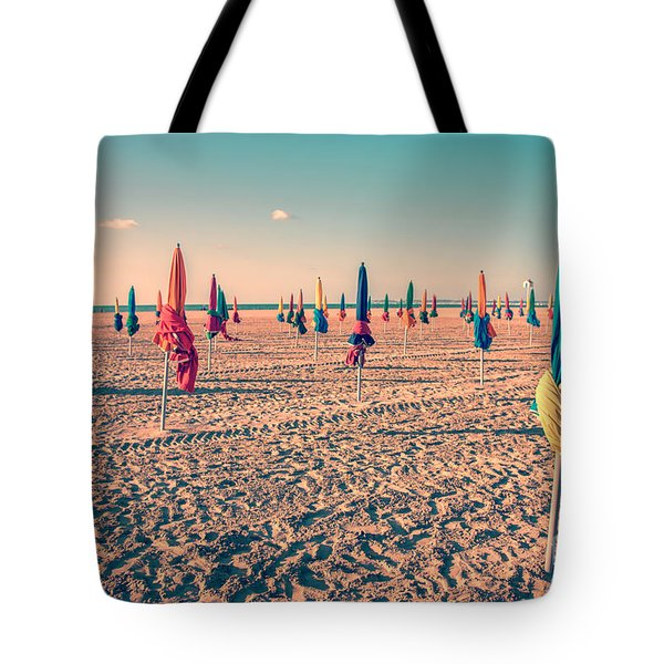 Parasols Of Deauville Tote Bag