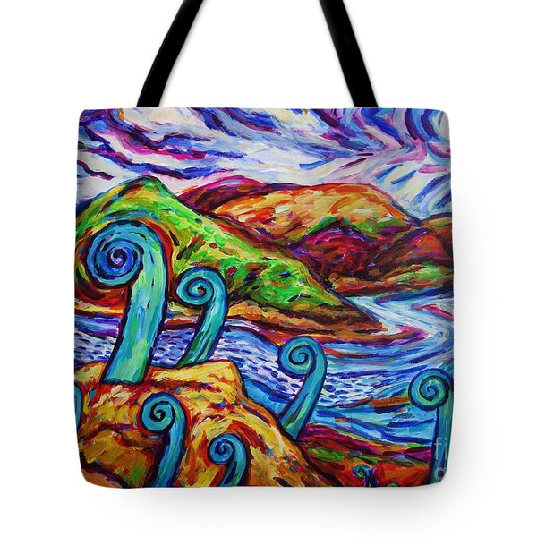 Paratawhiti At Oruru River Tote Bag by Dianne  Connolly
