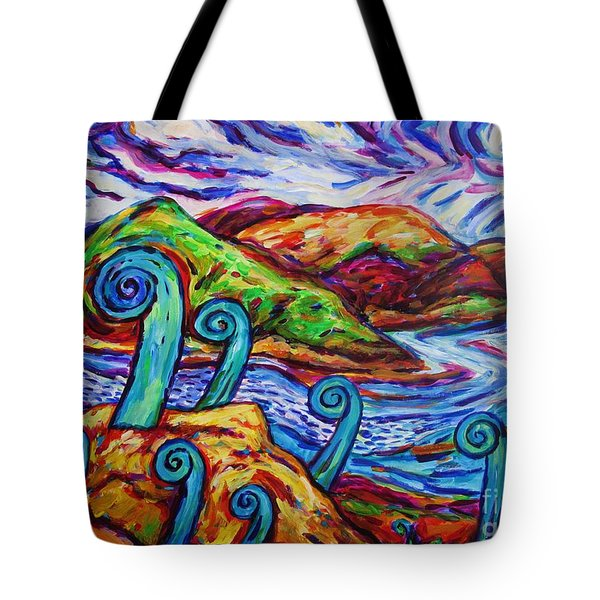 Tote Bag featuring the painting Paratawhiti At Oruru River by Dianne  Connolly