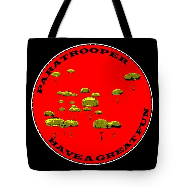 Paratrooper Fun Tote Bag