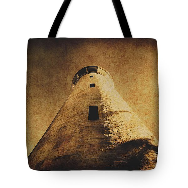 Parchment Paper Lighthouse Tote Bag