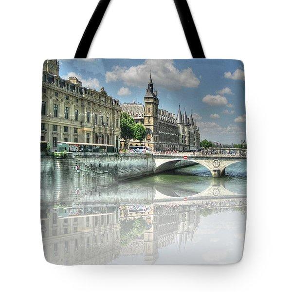Tote Bag featuring the mixed media Pari Pari by Yury Bashkin