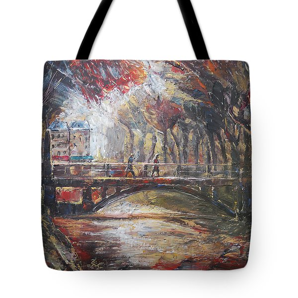 Paris - 6 O' Clock In The Morning Tote Bag