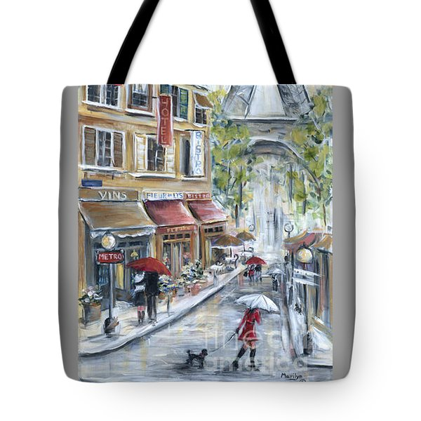 Poodle In Paris Tote Bag