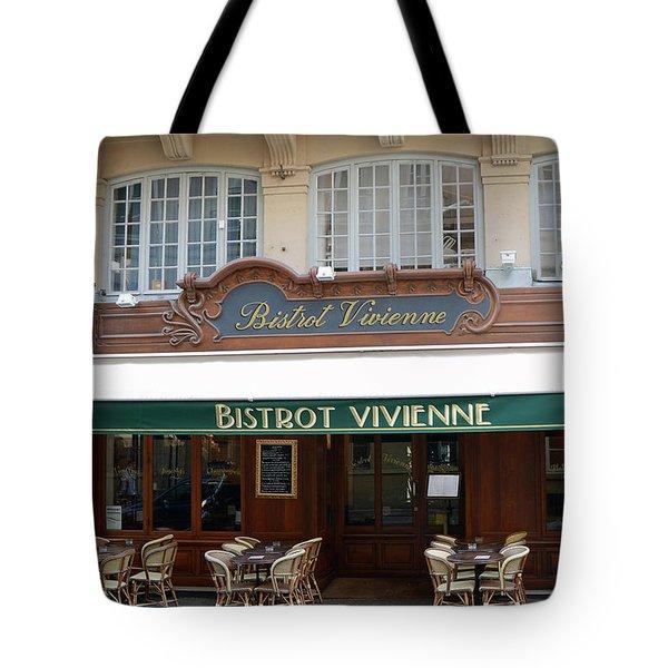 Paris Bistrot Vivienne Galerie Vivienne - Parisian Cafes Bistros Tote Bag