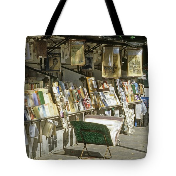 Paris Bookseller Stall Tote Bag