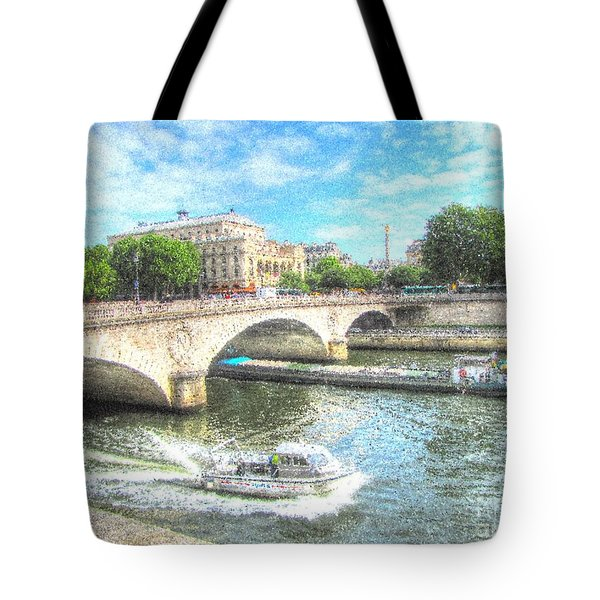 Paris Bridge Tote Bag by Yury Bashkin