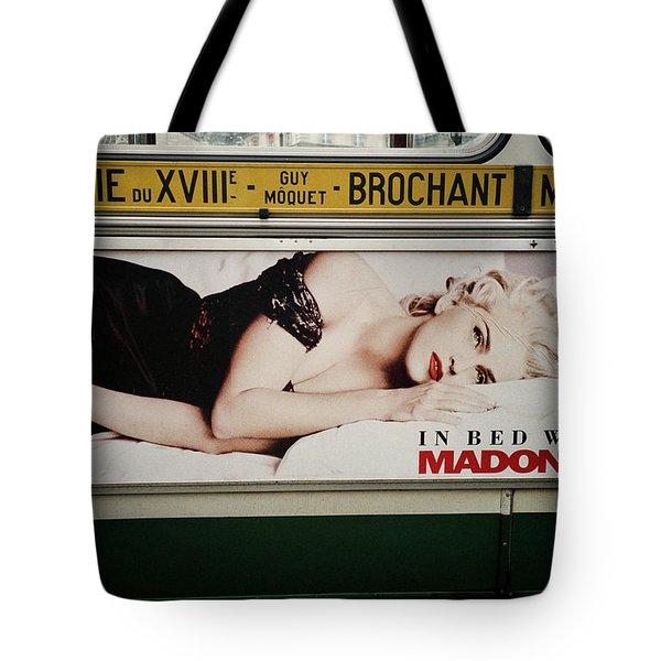 Paris Bus Tote Bag