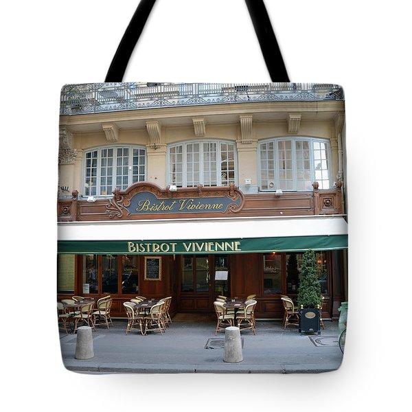 Tote Bag featuring the photograph Paris Cafe Bistro - Galerie Vivienne - Paris Cafes Bistro Restaurant-paris Cafe Galerie Vivienne by Kathy Fornal