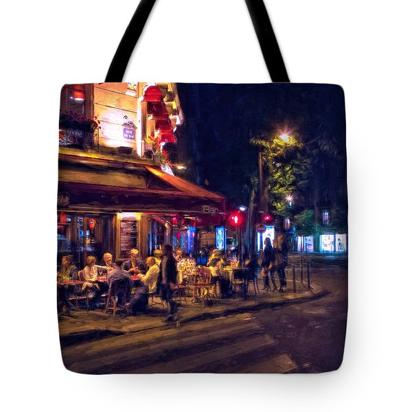 Tote Bag featuring the photograph Paris Cafe by John Rivera