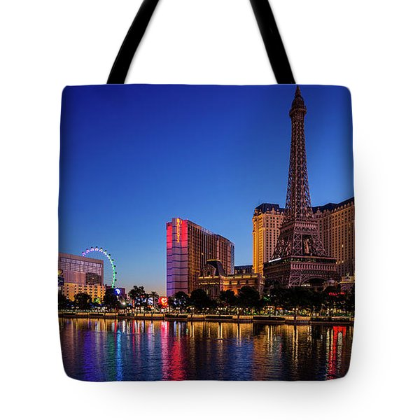 Paris Casino At Dawn 2 To 1 Ratio Tote Bag