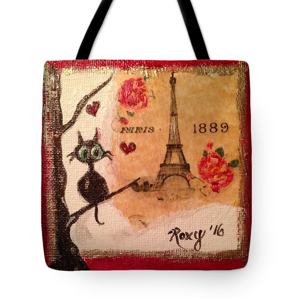 Paris Cat  Tote Bag by Roxy Rich