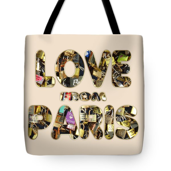 Tote Bag featuring the painting Paris City Of Love And Lovelocks by Georgeta Blanaru