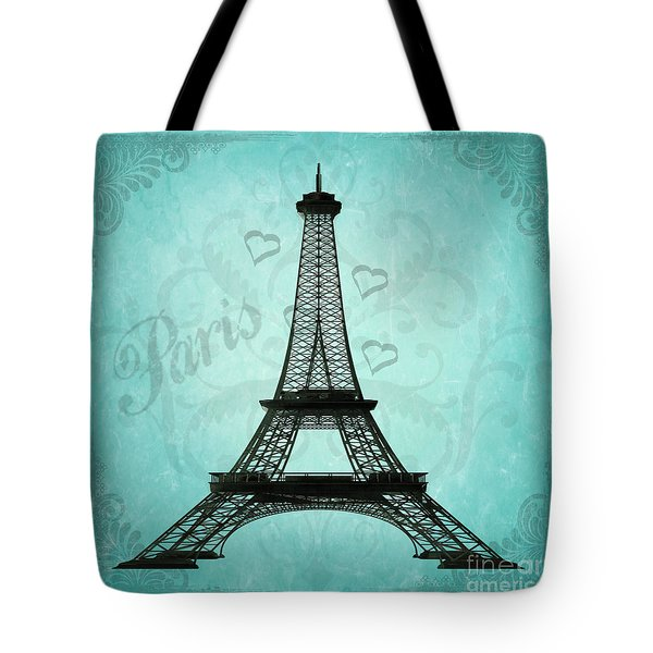Paris Collage Tote Bag