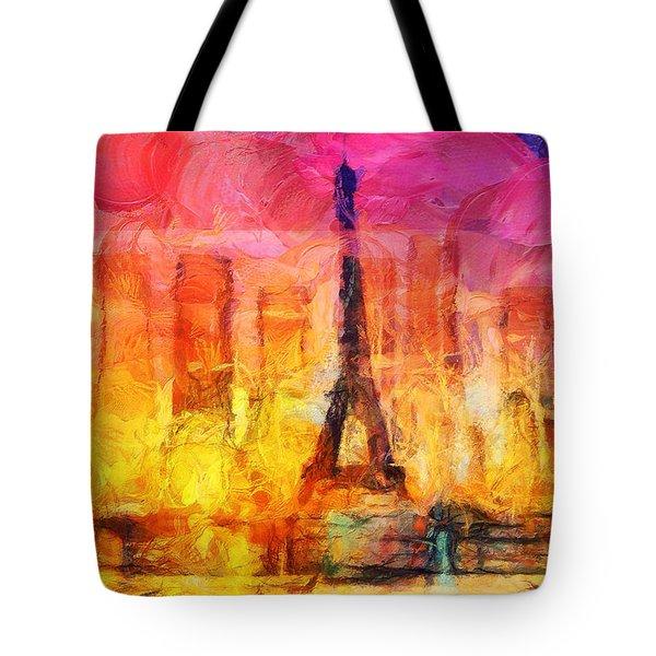 Paris Dans Une Bouteille Tote Bag