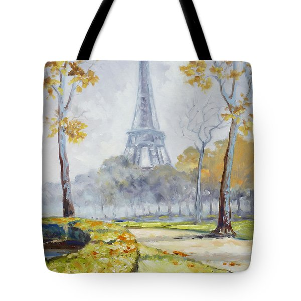 Paris Eiffel Tower From Trocadero Park Tote Bag