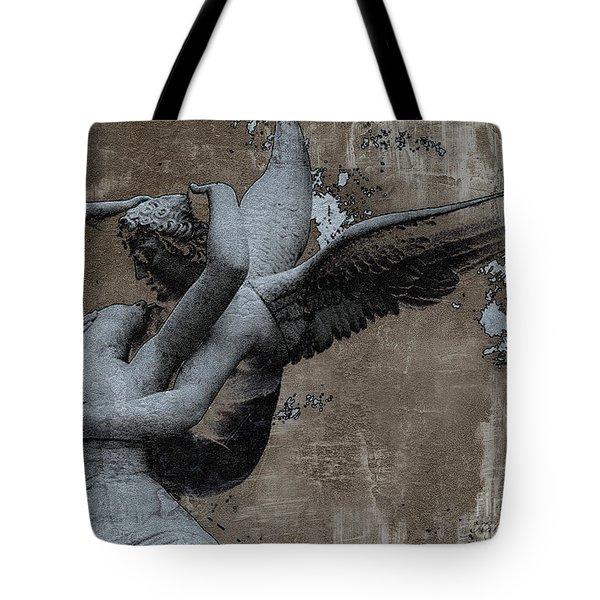 Paris Eros And Psyche - Surreal Romantic Angel Louvre   - Eros And Psyche - Cupid And Psyche Tote Bag