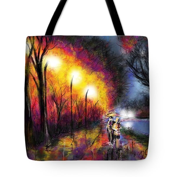 Tote Bag featuring the digital art Paris Evening by Darren Cannell