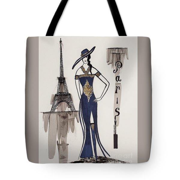 Paris Fashion Tote Bag