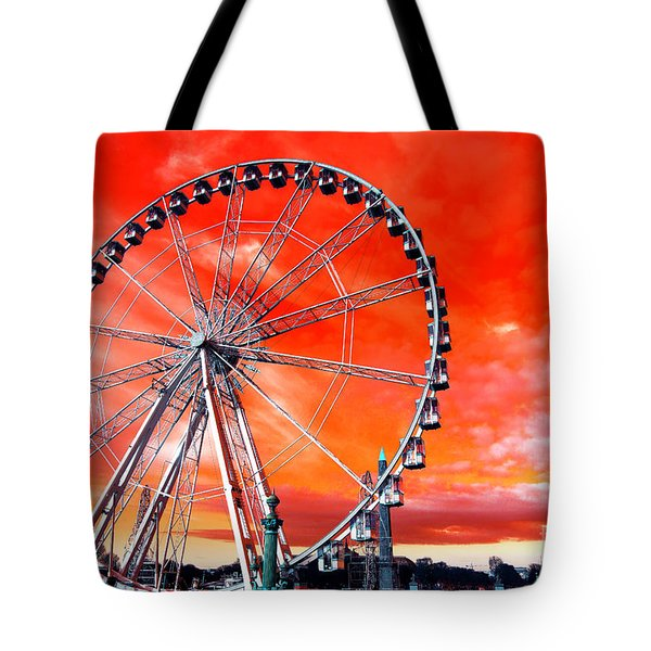 Paris Ferris Wheel Pop Art 2012 Tote Bag