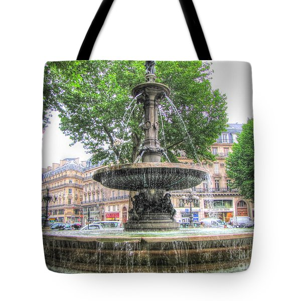Paris Fontane Tote Bag by Yury Bashkin