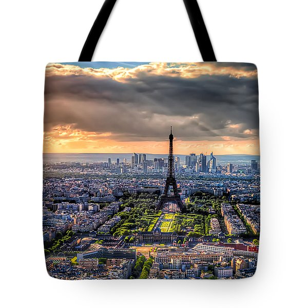 Paris From Above Tote Bag by Tim Stanley
