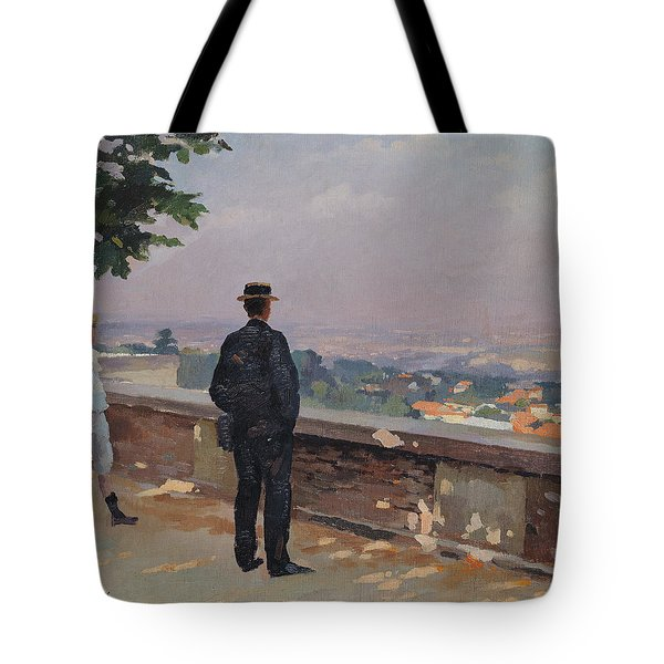 Paris From The Observatory At Meudon Tote Bag by Jules Ernest Renoux