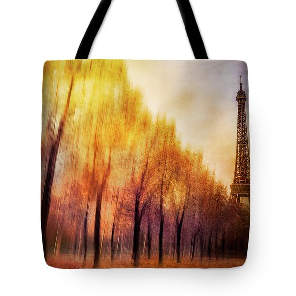 Paris In Autumn Tote Bag by Marty Garland