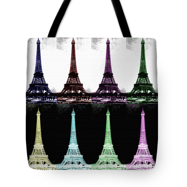 Paris In Many Colors Tote Bag