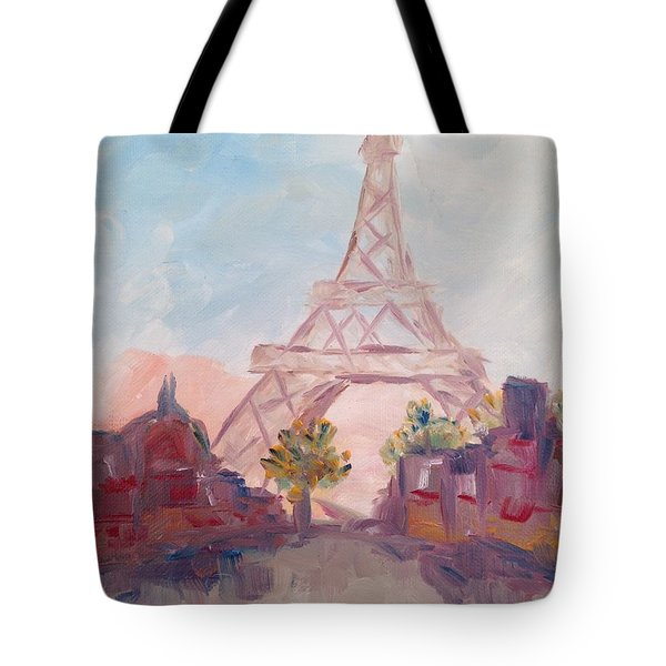 Paris In Pastel Tote Bag