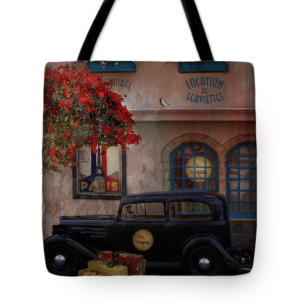 Tote Bag featuring the digital art Paris In Spring by Jeff Burgess