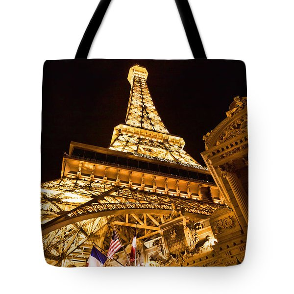 Tote Bag featuring the photograph Paris In Vegas by Kim Wilson