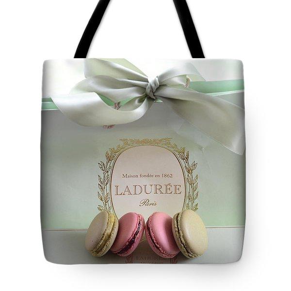 Paris Laduree Mint Box Of Macarons - Paris French Laduree Macarons  Tote Bag
