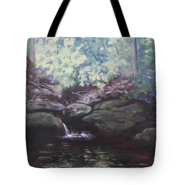 Paris Mountain Waterfall Tote Bag