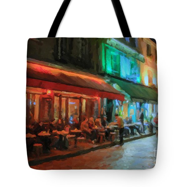 Tote Bag featuring the painting Paris Night by Chris Armytage