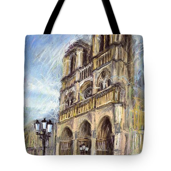 Paris Notre-dame De Paris Tote Bag by Yuriy  Shevchuk