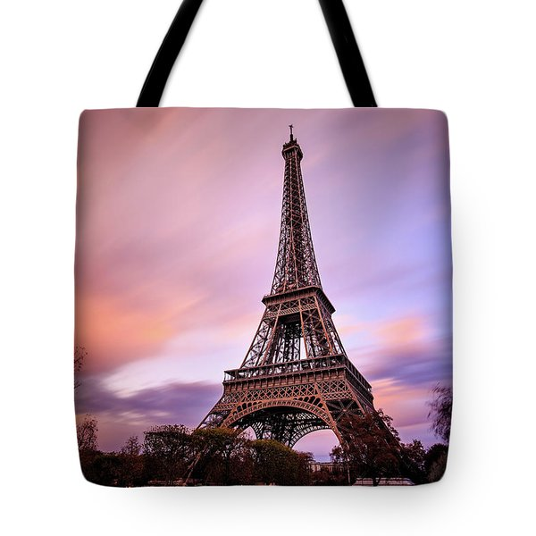 Tote Bag featuring the photograph Paris Pastels by Jennifer Casey