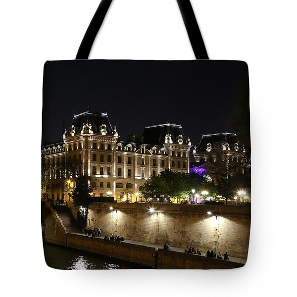 Tote Bag featuring the photograph Paris Police Headquarters by Andrew Fare