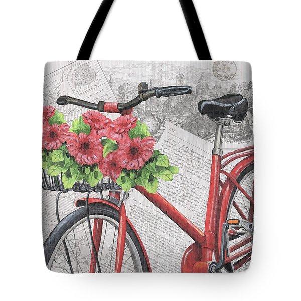 Paris Ride 2 Tote Bag by Debbie DeWitt