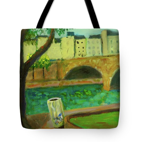 Tote Bag featuring the painting Paris Rubbish by Paul McKey