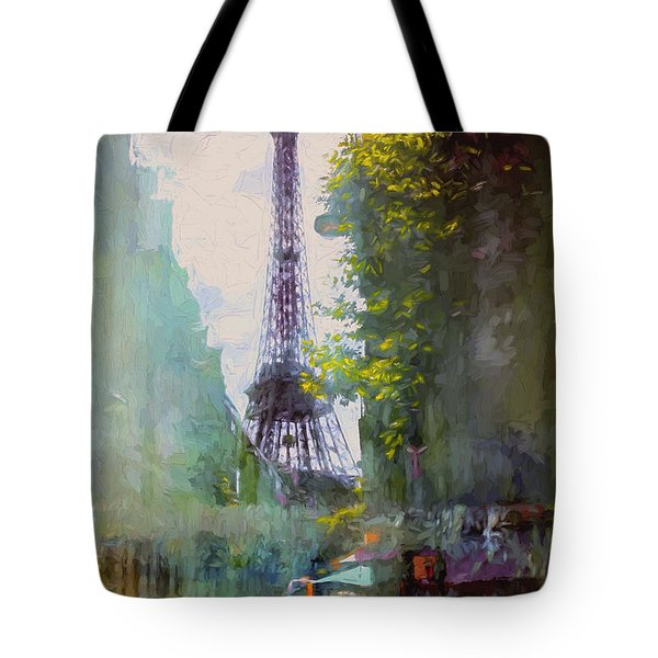 Paris Street Tote Bag by John Rivera