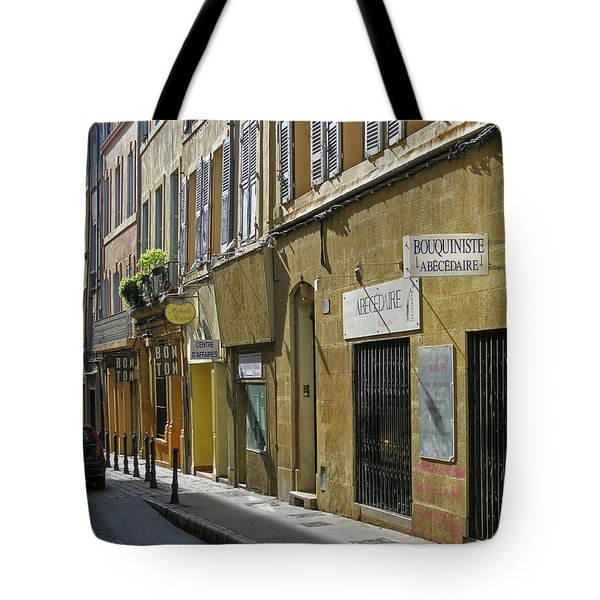 Tote Bag featuring the photograph Paris Street Scene by Jim Mathis