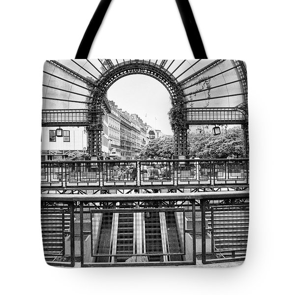 Tote Bag featuring the photograph Paris Subway Station by Dave Beckerman