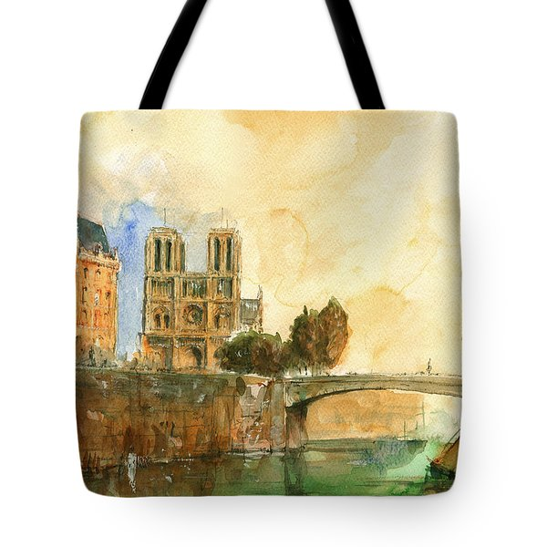 Paris Watercolor Tote Bag by Juan  Bosco